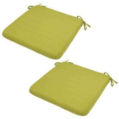 20 x 19 Outdoor Chair Cushion in Standard Green (2-Pack)