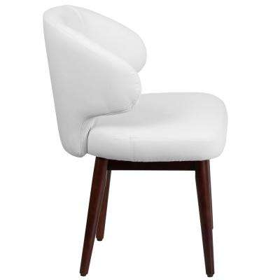 Carnegy Avenue White Leather Wood Office/Desk Chair