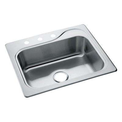 Southhaven Drop-In Stainless Steel 22 in. 3-Hole Single Bowl Kitchen Sink