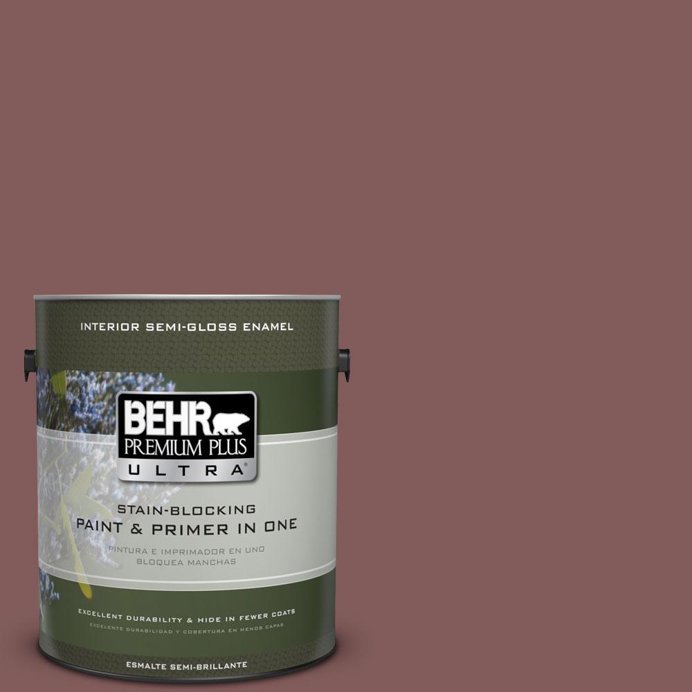 BEHR Premium Plus Ultra 1-gal. #140F-6 Book Binder Semi-Gloss Enamel Interior Paint