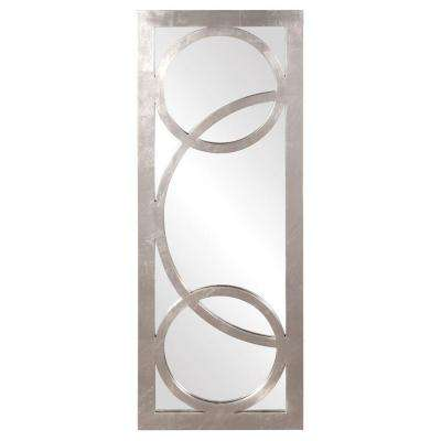 38 in. x 15 in. Silver Whimsical Overlay Framed Mirror