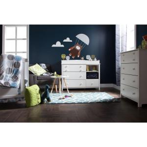Little Smileys 4-Drawer Pure White Chest