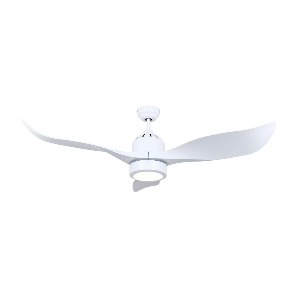 Canarm Aria 52 In Led Indoor White Downrod Mount Ceiling
