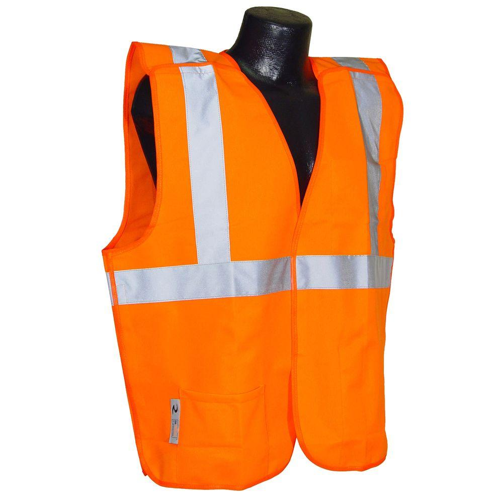 Cl 2 Orange 5x Solid Breakaway Safety Vest