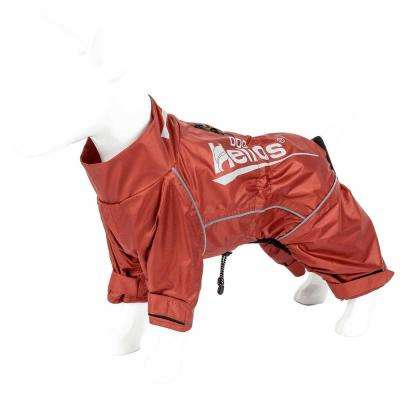Small Orange Hurricanine Waterproof and Reflective Full Body Dog Coat Jacket