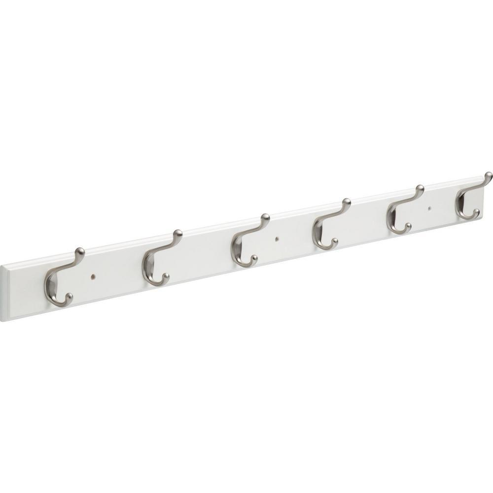 Satin Nickel Hook Rack 45chhr Wsn L1