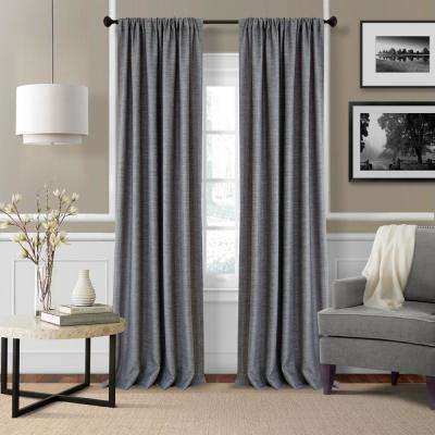 Elrene Pennington 52 in. W x 95 in. L Polyester Window Curtain Panel in Gray ( Set of 2)