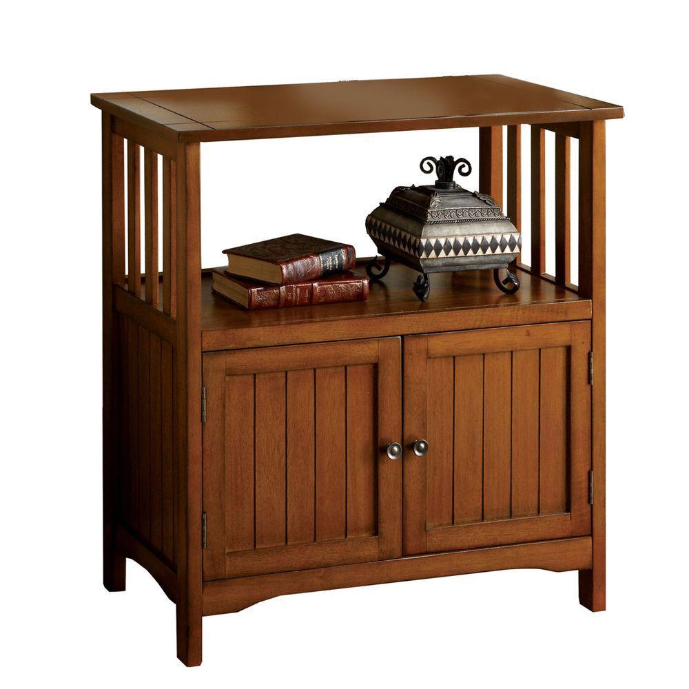 Home Decorators Collection Bridgewater Antique Oak End Table