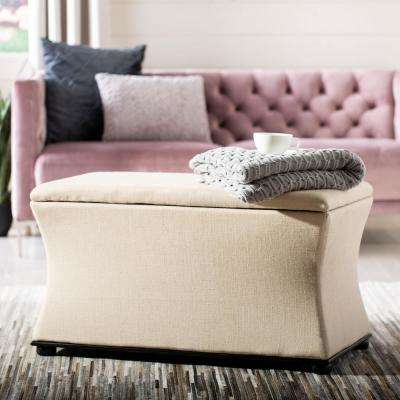 Aroura Beige Storage Bench