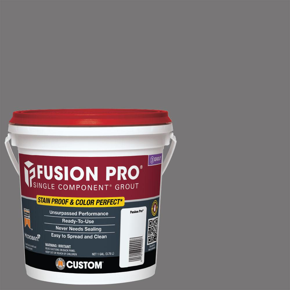 custom building products fusion pro 19 pewter 1 gal single component grout fp191 2t the home. Black Bedroom Furniture Sets. Home Design Ideas