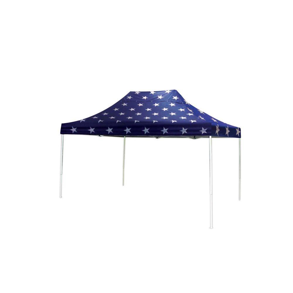 ShelterLogic 10 ft. x 15 ft. ST Pop Up Canopy Super Star Cover Black Roller Bag