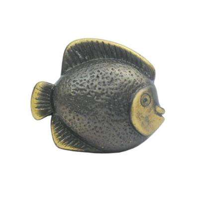 1-5/8 in. Bronze Fish Shaped Cabinet Hardware Knob