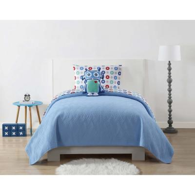 Jersey Quilted Blue Full / Queen Blanket