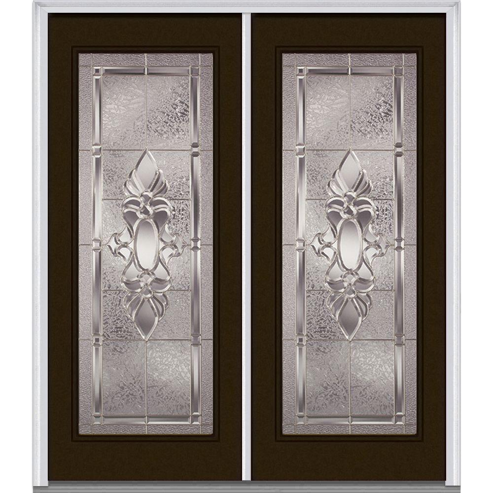 Remarkable Mmi Door 64 In X 80 In Heirlooms Right Hand Inswing Full Lite Decorative Glass Painted Steel Prehung Front Door Home Interior And Landscaping Pimpapssignezvosmurscom