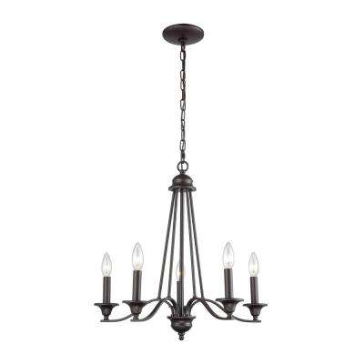 Farmington 5-Light Oil Rubbed Bronze Chandelier