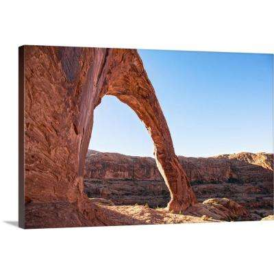 """The Corona Arch overlooking Bootlegger Canyon in Arches National Pa..."" by  Circle Capture Canvas Wall Art"
