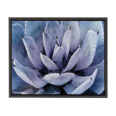 "Sylvie ""Violet Cactus"" by Amy Peterson Framed Canvas Wall Art"