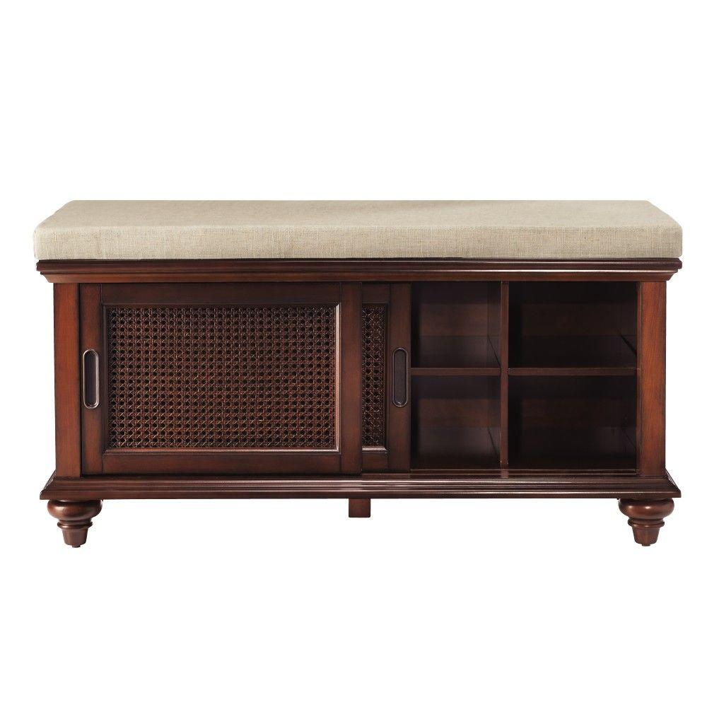 Home Decorators Collection Ansley 42 in. W Walnut Shoe Storage