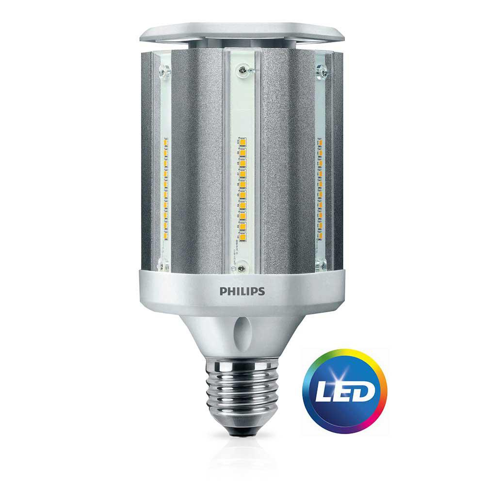 Outside Lights Daylight Or Soft White: Philips 100-Watt Equivalent ED28 HID Post Top Replacement