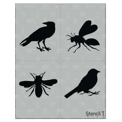 Birds and Bees Stencil (4-Pack)