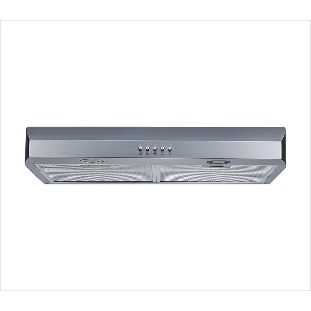 f5aa43dd0c5 250 CFM Under Cabinet Range Hood in Stainless Steel with Aluminum Filters