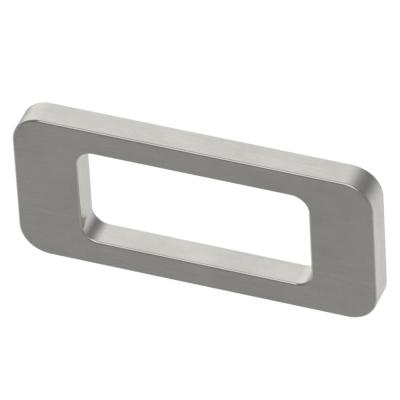 Curved Rectangle Cutout 2-1/2 in. (64mm) Center-to-Center Satin Nickel Drawer Pull