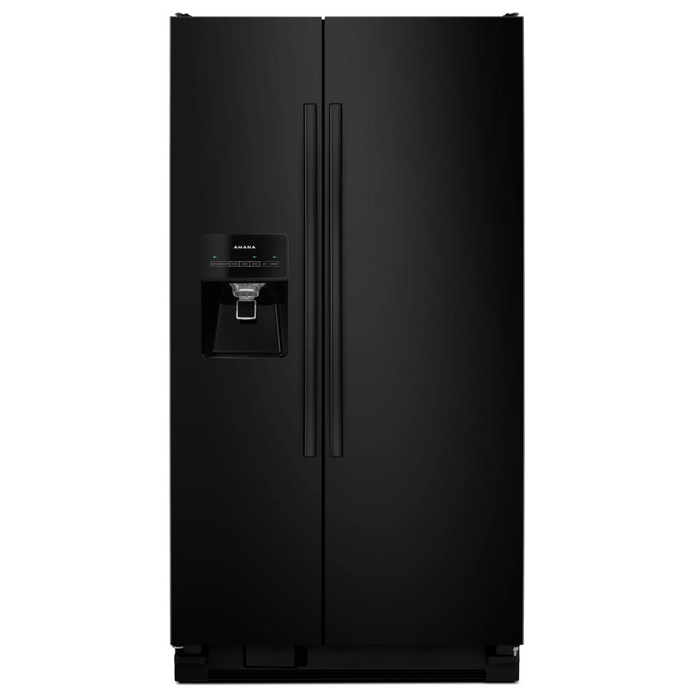 Amana 24 49 Cu Ft Side By Side Refrigerator In Black