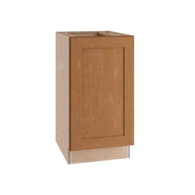 Hargrove Assembled 18x34.5x24 in. Double Pullout Wastebasket Base Kitchen Cabinet in Cinnamon