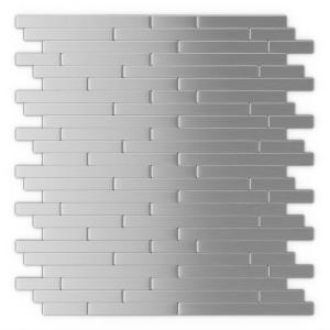 Inoxia Sdtiles Linox 11 88 In X 12 Self Adhesive Decorative Wall Tile Stainless Steel Usid811 1 The Home Depot