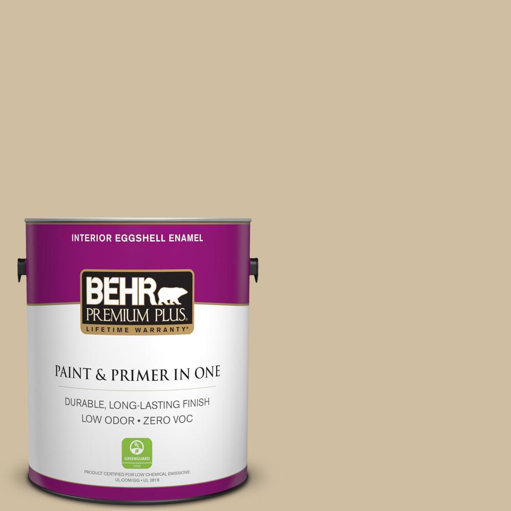BEHR Premium Plus 1-gal. #S320-3 Final Straw Eggshell Enamel Interior Paint