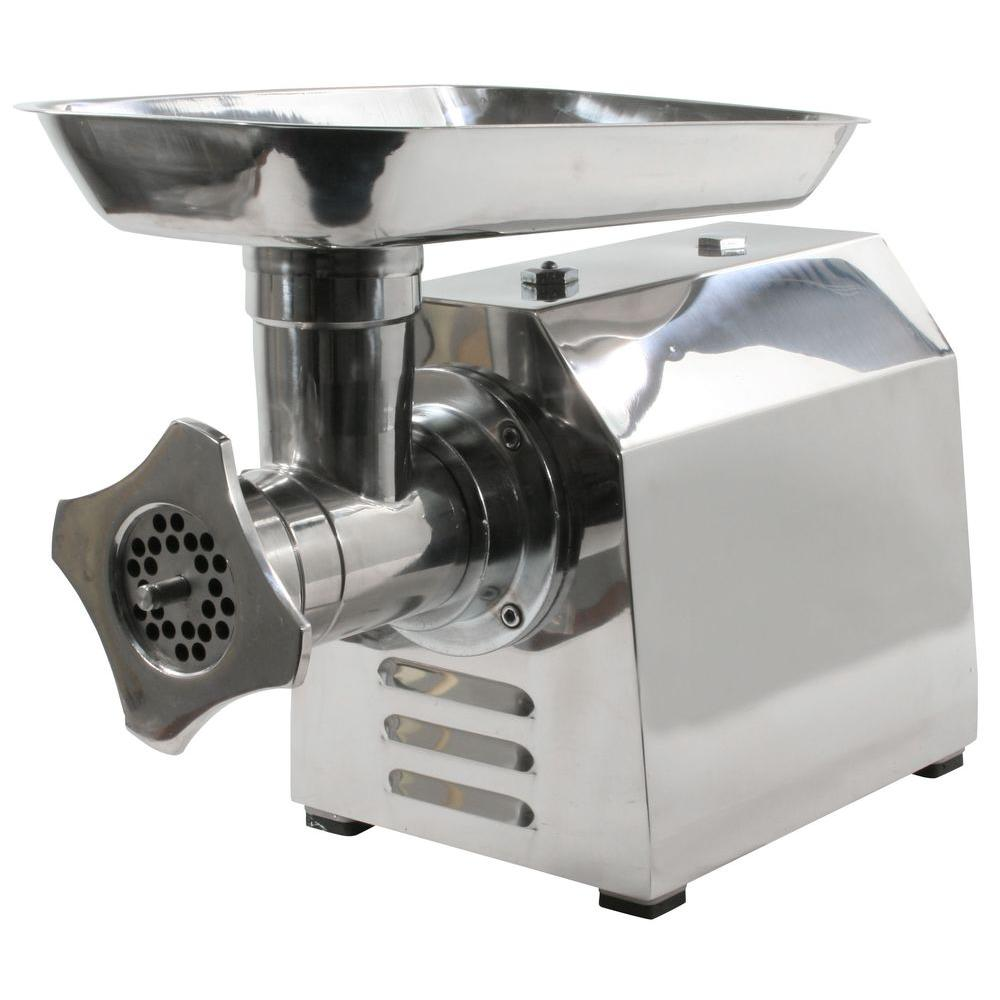 Commercial Grade Meat Grinder, Silver Metallic