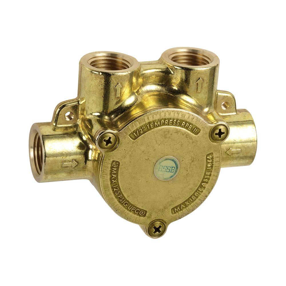 hansgrohe in line pressure balance valve 13418181 the home depot. Black Bedroom Furniture Sets. Home Design Ideas