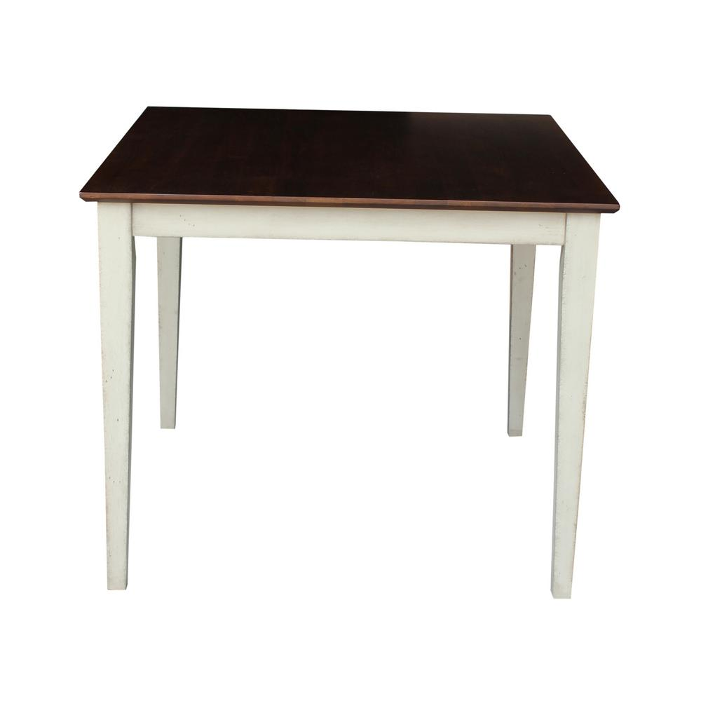 International concepts cinnamon and espresso skirted for Espresso dining table