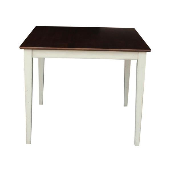 International Concepts Almond and Espresso Dining Table K12-3636-30S