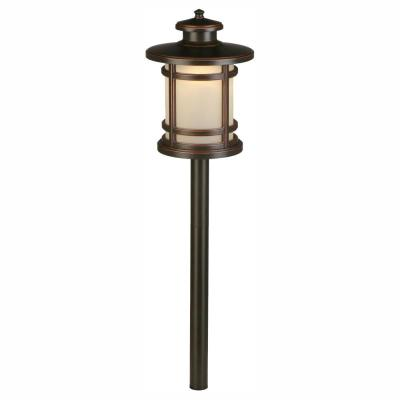 3-Watt Oil Rubbed Bronze Outdoor Integrated LED Landscape Path Light with Frosted Shade