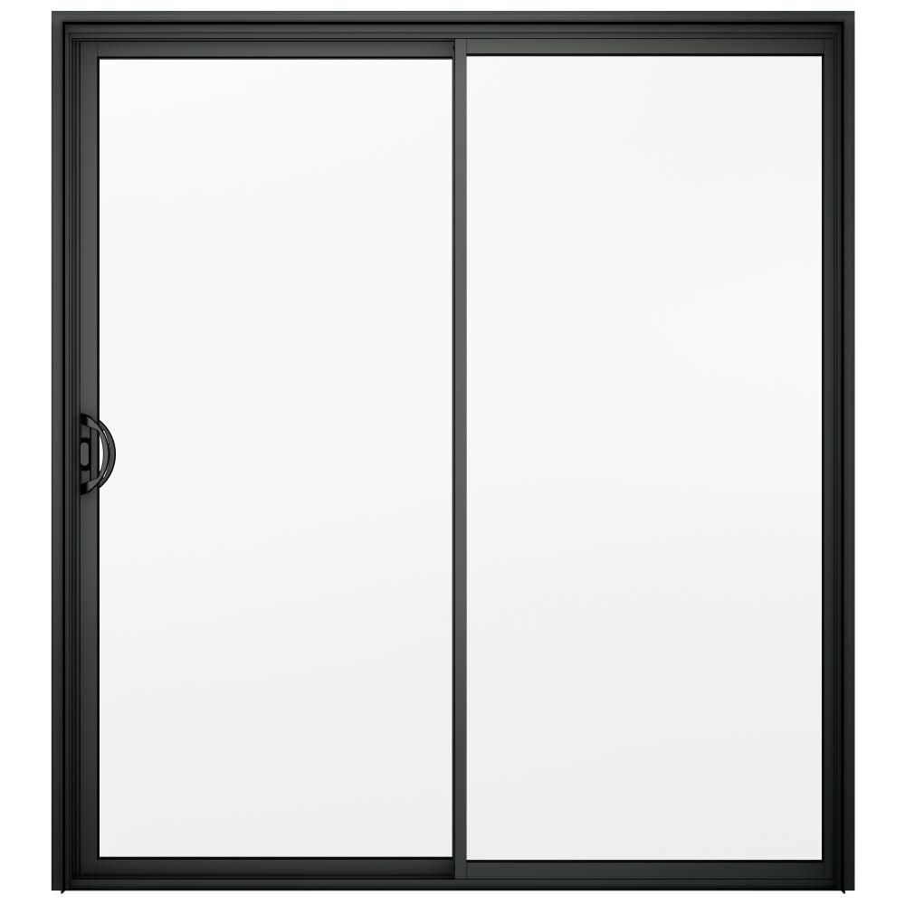 Superior A 200 Series Bronze Reversible Aluminum Sliding Patio Door With Clear  Tempered Glass 8b6115   The Home Depot