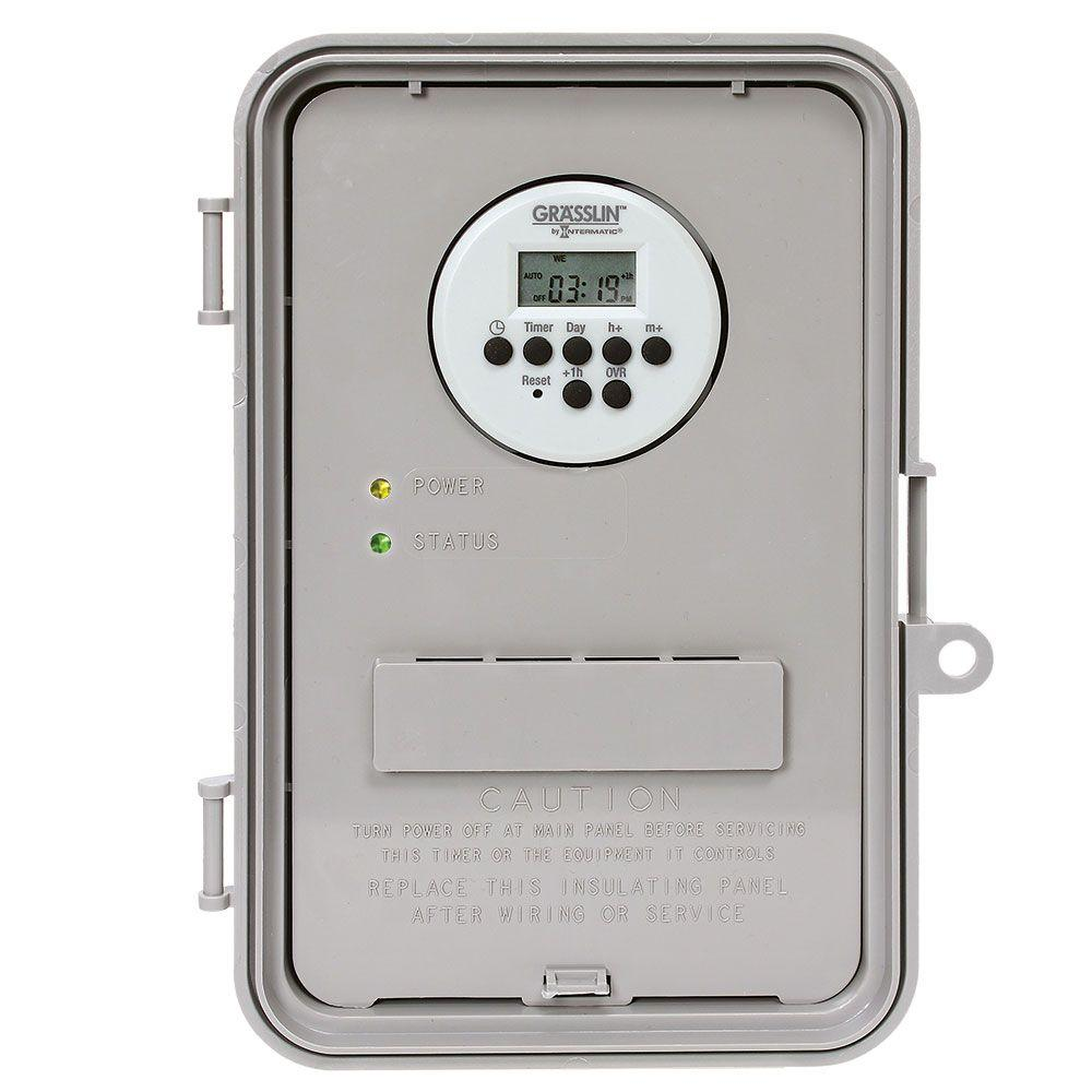 Intermatic 40 Amp Auto-Volt Digital Industrial Timer Switch - Gray ...