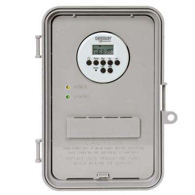 40 Amp Auto-Volt Digital Industrial Timer Switch - Gray