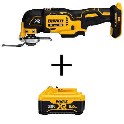 20-Volt Max Lithium-Ion Cordless Oscillating Multi-Tool (Tool-Only) with Bonus 20-Volt Li-Ion Premium Battery Pack 6.0Ah