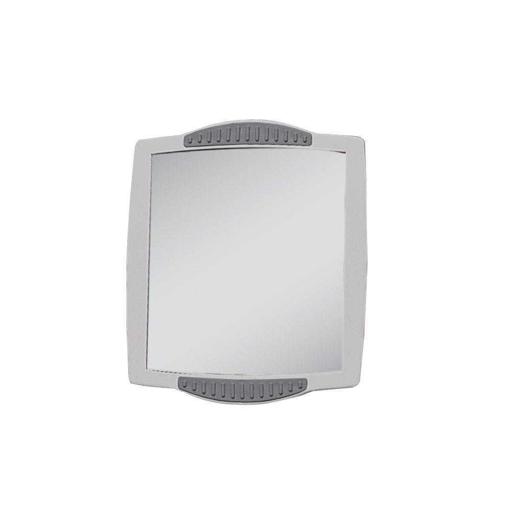 Zadro 8 in. W x 5 in. H Fogless Clip-On Shower Mirror in White