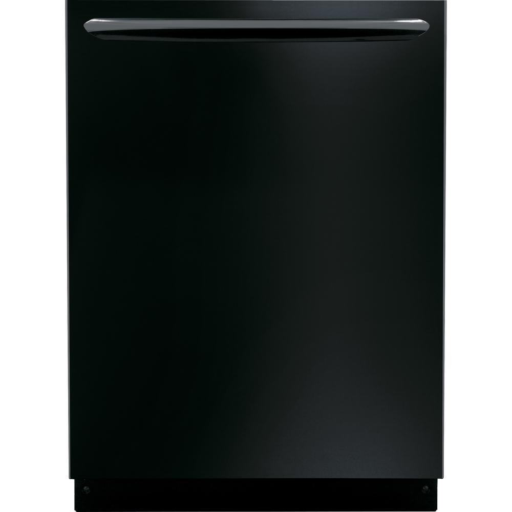 Top Control Built-In Tall Tub Dishwasher in Black with Stainless Steel