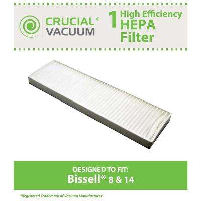 Replacement Filter Style 8 and 14, Fits Bissell Lift-Off & More, Compatible with Part 3091, 203-6608, 470856 & FX-HVF090