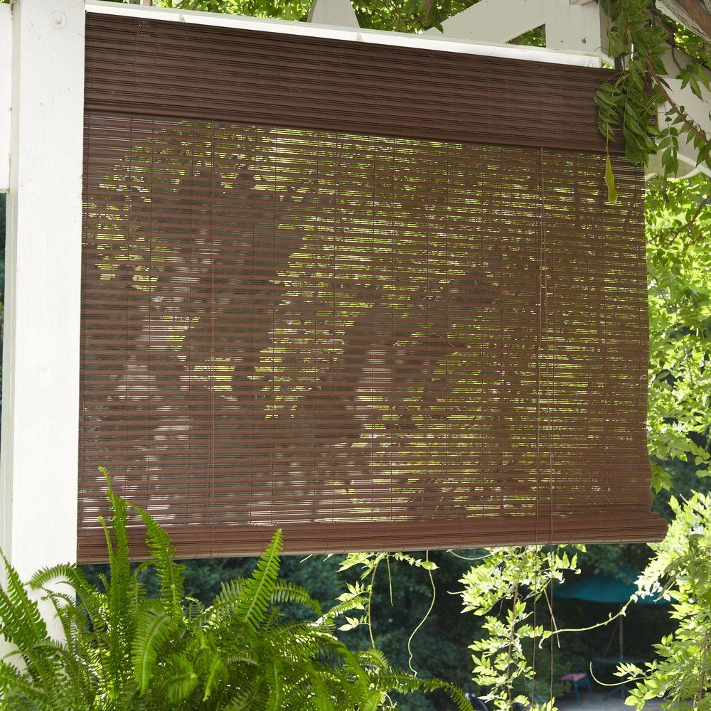 Designview Chestnut Exterior Corded Roll Up Shade