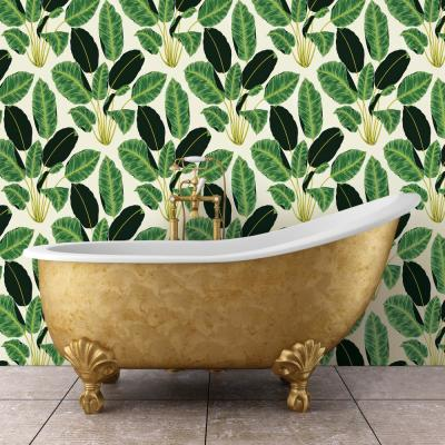 Genevieve Gorder Hojas Cubanas Rich Emerald Self-Adhesive Removable Wallpaper