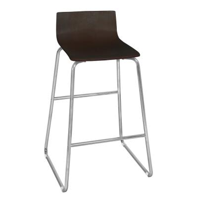 Ares 29.5 in. Mocha Walnut Cafe High Stool