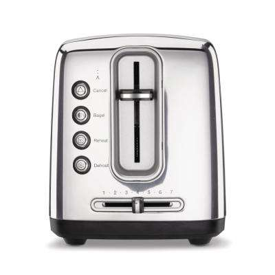 Artisan Bread 2-Slice Stainless Steel Long Slot Toaster with Crumb Tray