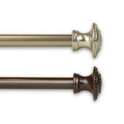 Amulet 7/16 in. Cafe Curtain Rod 18 in.to 28 in. in Cocoa