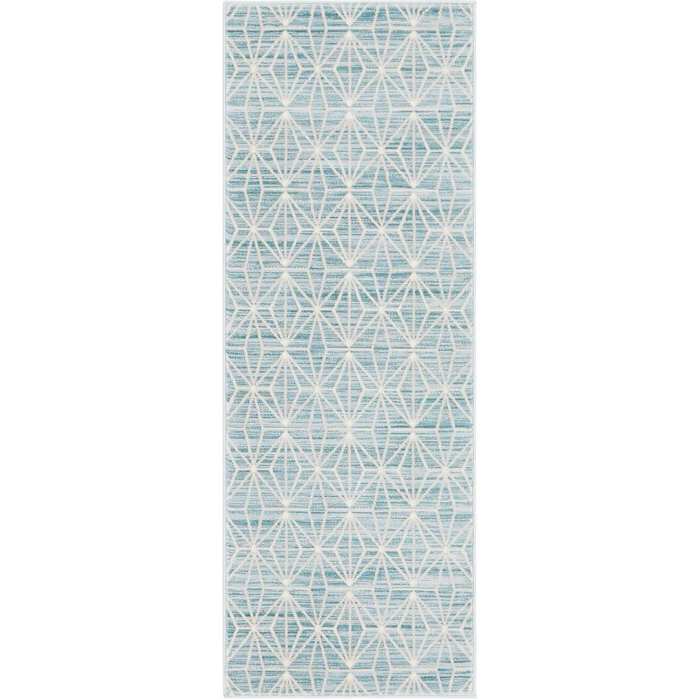 "Uptown Collection by Jill Zarin Blue 2'2"" x 6' Runner Rug"