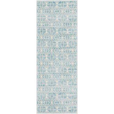 Uptown Collection by Jill Zarin™ Fifth Avenue Blue 2' 2 x 6' 0 Runner Rug