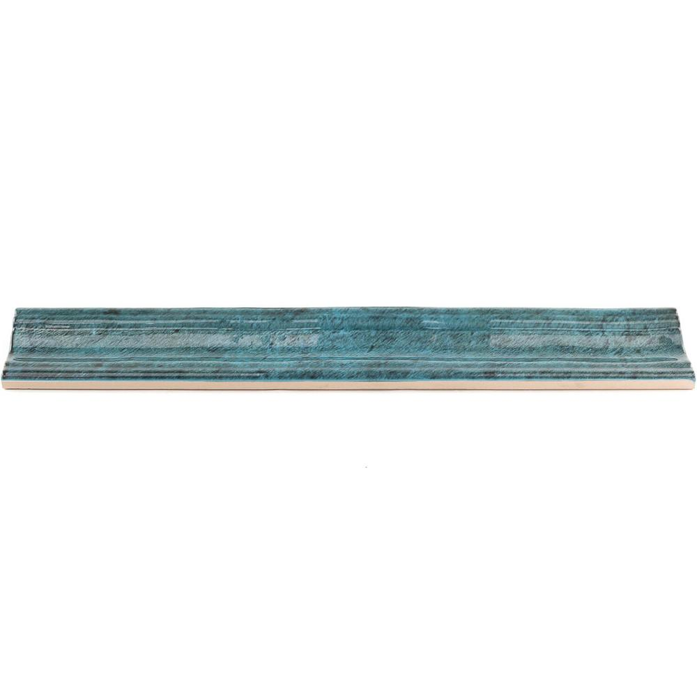 Ivy Hill Tile Moze Blue 2 In. X 12 In. Ceramic Chair Rail